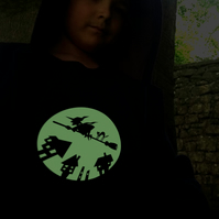 WITCH Glow in the dark T shirt
