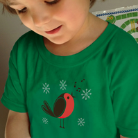CHRISTMAS  ROBIN T shirt