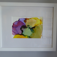 Pansy Original Painting (Framed)