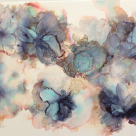 Enchanting Blue Abstract Floral