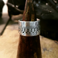 """Crown"" ring in silver"