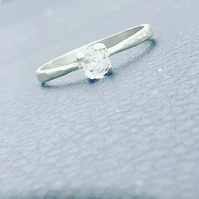 Raw Diamond Engagement Ring.