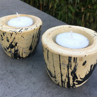 Concrete Candle Cup - Tea Light - Set of two - Wedding gift - table set