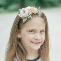 Summer Flower Headband, Boho Flower Crown, Ranunculus Headband