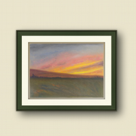 Early Riser - Framed Pastel Drawing