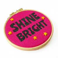 Shine Bright Felt Wall Art