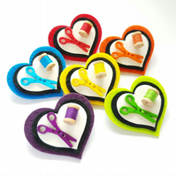 Love to Sew Felt Heart Brooch
