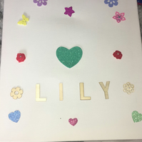 personalised girls canvas