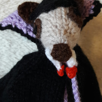 Dracula Meerkat knitted Halloween Figure
