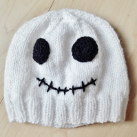 Halloween skeleton baby hat