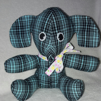 Elephant collectible gift, green check