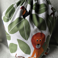 Kids animal print duffel bag