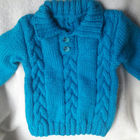 Toddler's sweater with cable detail