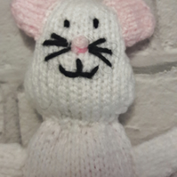 Gory Halloween decoration, knitted mouse, not for the squeamish