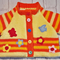 Fully lined baby's knitted jacket