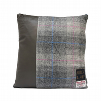 Curtis - Upcycled Leather & Harris Tweed