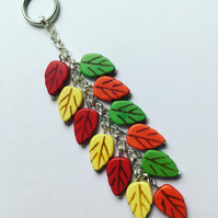Autumn leaves bag charm