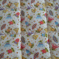 Boys toddler bed quilt