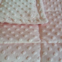 4-9Ib dimple fleece weighted blanket 5 colours to choose