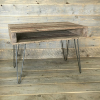 Rustic Shabby chic Coffee Table Solid Wood Reclaimed Pallet Steel Hairpin Legs