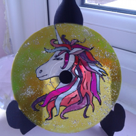 Unicorn CD art original painting