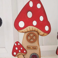 Stand up wooden fairy house