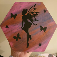 Hand painted Fairy box