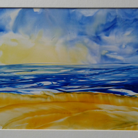 seascape original encaustic art painting