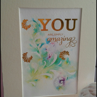 You are Amazing Framed piece
