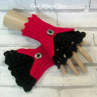 Crochet ladies Victorian style lace gloves