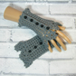 Grey ladies crochet gloves