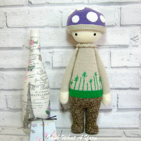 Crochet Lalylala Paul the Toadstool, mushroom doll.