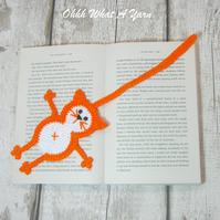 Crochet cat bookmark, cat gift, crochet bookmark, bookmark
