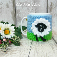 Silly sheep mug hug, sheep mug cosy. Made To Order