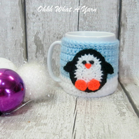 Penguin mug hug, penguin mug cosy. Made To Order