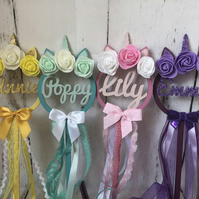 unicorn flower girl wand