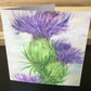 Greeting Card, Blank, Thistle, Scottish, Square Card