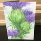 Greeting Card, Blank, Scottish Thistle