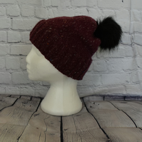 Womens Merino Wool Bobble Hat