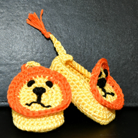 Lion Slippers 0 - 4 mths