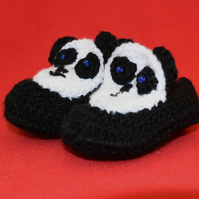 Panda Slippers 0 - 4 mths