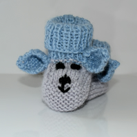 Blue Mice Booties 0 - 4 mths