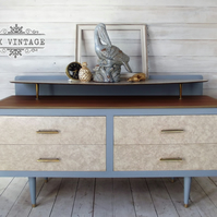 Mid century drawers with original drawer front marble effect and original handle