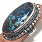 Chrysocolla Gemstone 925 Sterling Silver Oxidized Unisex Ring
