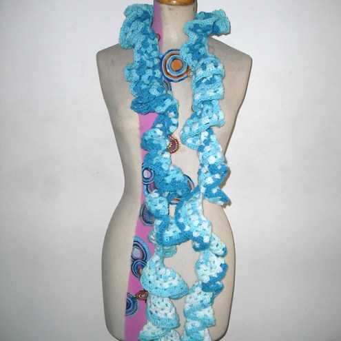 Blue Wave Scarf