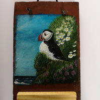 "Puffin Painting ""Fisherman of Lundy"""