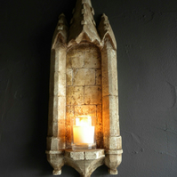 Lovely castle gothic niche hanging for plant or candle