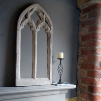 Lovely traceried double light gothic mirror arch