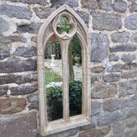 Beautiful double light gothic garden church arch mirror