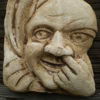 Lovely nose picking grotesque hanging plaque